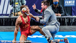 25 best wrestling photos of 2021 season, in photo david carr and coach brent metcalf are celebrating an ncaa title win